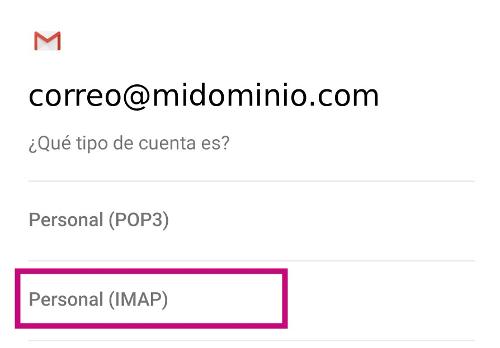 Configura tu correo en tu dispositivo Android
