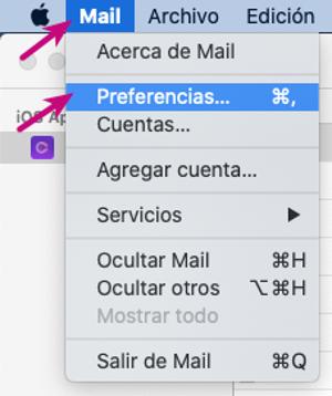 Mail - preferencias