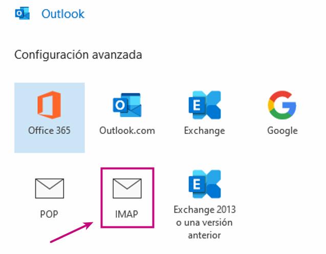 Configurar tu correo corporativo en Outlook con IMAP