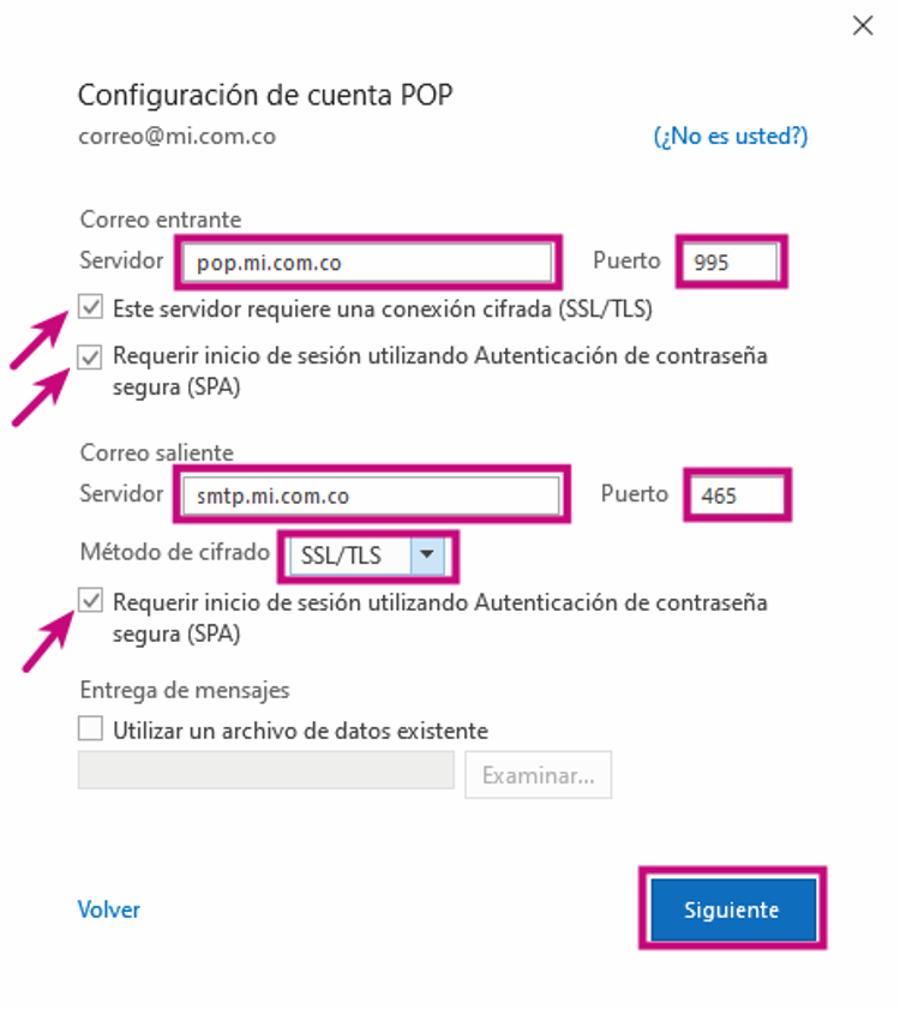 Configurar tu correo corporativo en Outlook con POP