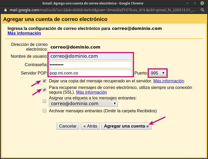 Configurar tu correo corporativo en Gmail