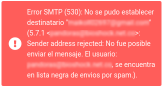 Bloqueo correos Masivos Spam