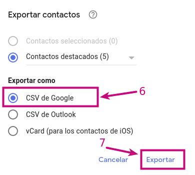 Descargar Contactos de correo corporativo