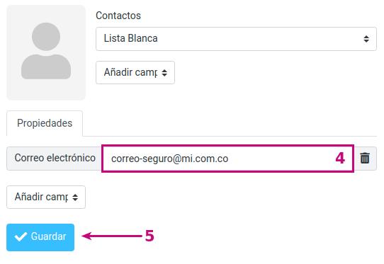 Edita una Lista blanca en tu correo empresarial