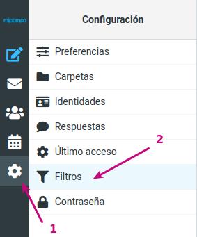 En tu correo corporativo configura los filtros