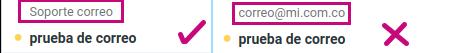Visualización en el correo corporativo
