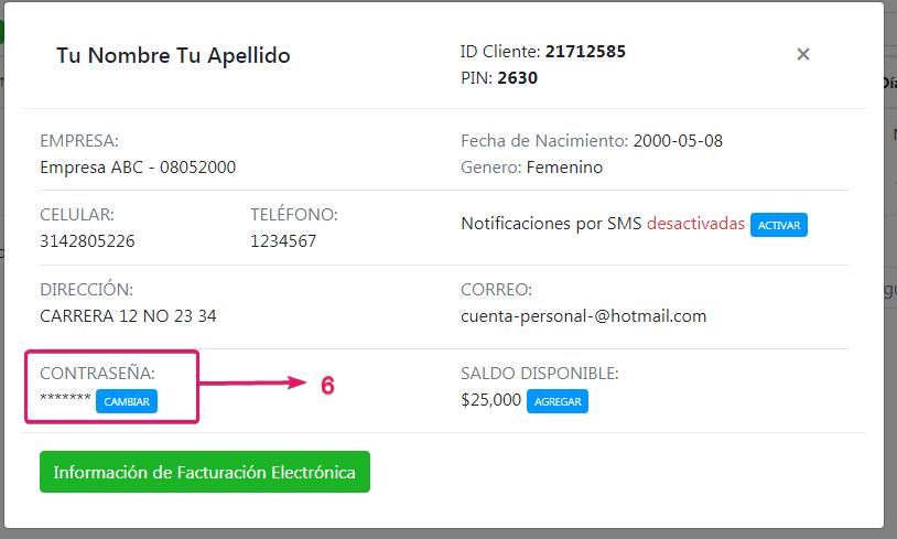 Datos donde están registrado dominios, correos corporativos y hosting