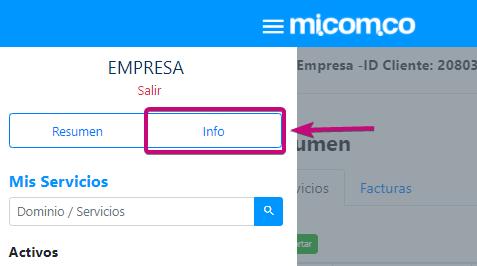 Encontrar la información con la que esta el dominio, correo corporativo y hosting