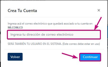 Correo donde se administraran servicio dominio, correo corporativo y hosting