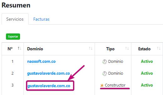 Editar página para que conozcan tu dominio.